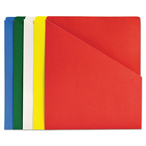 Quality Park 89503 Slash-View Pocket Organizers, Letter, Assorted Colors, (Slash View Pocket Organizers)