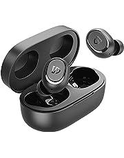 SoundPEATS TrueFree2 Wireless Earbuds Bluetooth 5.0 Headphones in-Ear Stereo IPX7 Waterproof Sports Earbuds, Monaural/Binaural Calls, Single/Twin Mode, Customized Ear Fins, USB-C, 20 Hours Playtime