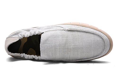 Tda Mens Trendy Bassa Traspirante Elastico Elastico Outdoor Sneaker Grigio