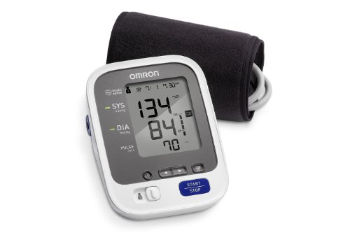 (Omron 7 Series Upper Arm Blood Pressure Monitor; 2-User, 120-Reading Memory, Wide-Range Comfit Cuff, BP Indicator LEDs by Omron)