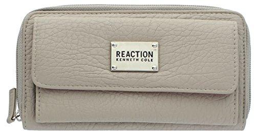 Kenneth Cole Reaction Zip-Around Urban Organizer Clutch (RUGGED MINK) (Wallet For Women Kenneth Cole)