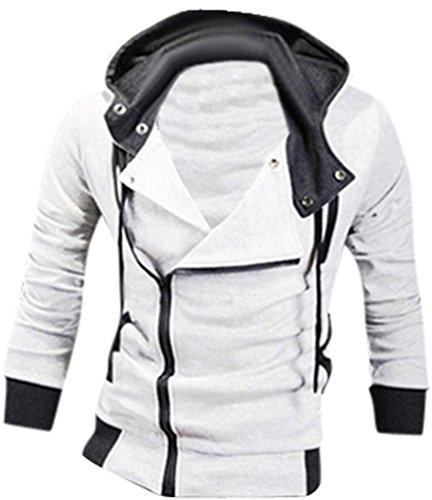 Inverno Uomo Cappotto Design 8945 Moda Sport Capispalla Casuale Tendenza Sottile Jeansian Giacca White Uomini fAExt8qw