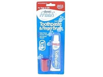 (2 unidades) Hatchwells – Dentifresh Kit de pasta y cepillo de dientes perro &
