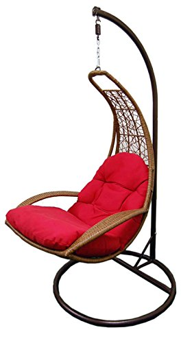 Hanging Resin Wicker swing Chair & Stand & Cushion