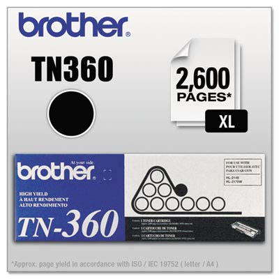 Brother TN-360 DCP-7030 7040 7045 HL-2120 2140 2150 2170 MFC-7320 7340 7345 7440 7445 7450 7840 Toner Cartridge (Black) in Retail Packaging