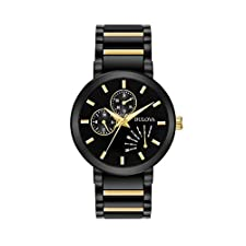 Bulova Men's Black IP Stainless Steel Watch