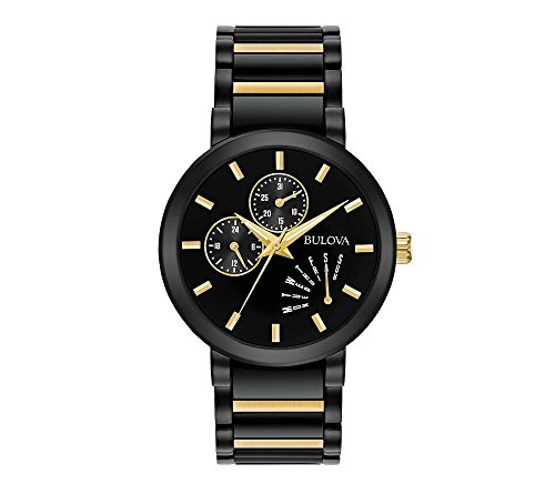 Bulova Men's 45mm Modern Black IP Stainless Steel Bracelet Watch