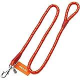 【大型犬用引きひも】アミット 丸ひもリード Lサイズ 直径18mm 全長約1.6m 色:SC 赤オレンジ