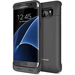 Galaxy S7 Edge Battery Case, Trianium Atomic S Pro Charging Battery Pack for Samsung Galaxy S7 Edge 5000mAh Extended Fast Charger [Quick Charge Compatible] Protective Case Power Pack Juice Bank-Black