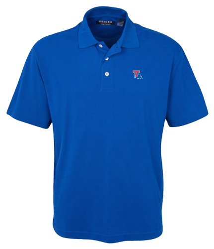 NCAA Men's Louisiana Tech Bulldogs 3-Button Polo With Hemmed Sleeves (Ultramarine, 4X-Large)
