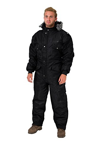 Men Costume Israeli (Black IDF Snowsuit Winter Clothing Snow Ski Suit Coverall Insulated Suit)