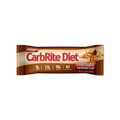 - Doctor's CarbRite Diet Sugar-Free Protein Bar - Chocolate Caramel Nut (1 Bar)