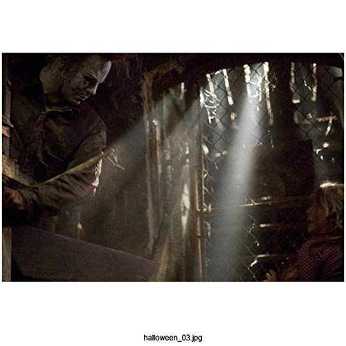 Tyler Mane 8 inch x 10 inch Photograph Halloween (2007) Standing Over a Terrified Scout Taylor-Compton kn