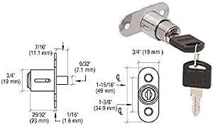 CRL Nickel Plated Track Plunger Lock LK54