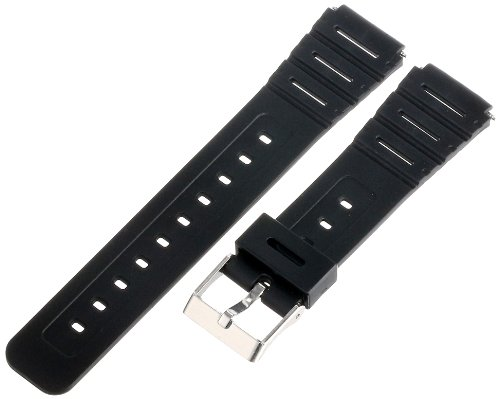 Timex Men's Q7B727 Resin Performance Sport 18mm Black Replacement Watchband