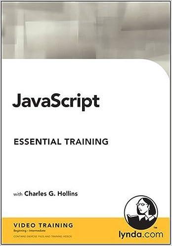 JavaScript Essential Training: Charles G  Hollins