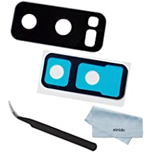 Xinidc Back Rear Camera Glass Lens cover Replacement part for Samsung Galaxy Note 8 + Adhesive Tape + Tweezers + Clearing Cloth