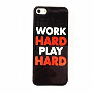 Colorful Charming Word Pattern Plastic Hard Case for iPhone 4/4S , Multicolor