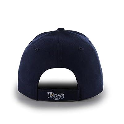 MLB Tampa Bay Rays Juke MVP Adjustable Hat, One Size, Light Navy