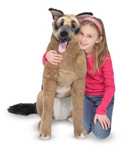 Melissa & Doug Giant German Shepherd - Lifelike Stuffed Animal Dog  (over 2 feet tall)