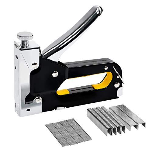 Staple Gun with Staples, 3 in 1 Heavy Duty Staple Gun Kit, Upholstery Stapler for Fixing Material, Decoration, Carpentry, Furniture, Doors and ()