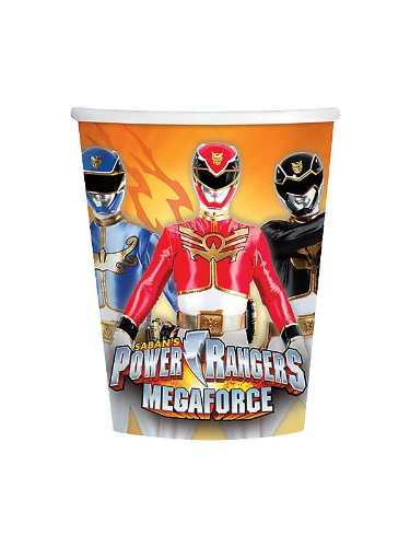 [Power Rangers Megaforce 9oz Cups (8 Pack)] (Power Rangers Megaforce Halloween)