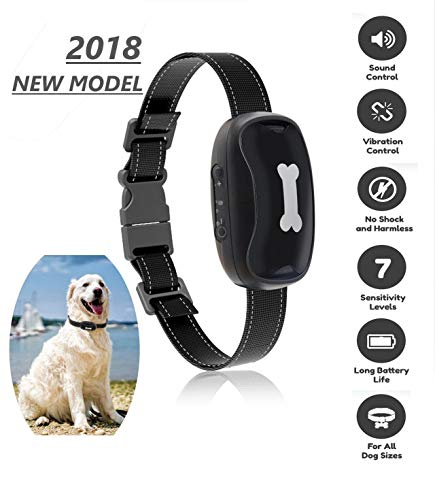 Dog Bark Collar [2018New Version] Humanely Stops Barking with Sound and Vibration. No Shock, Harmless and Humane. Small Dog Bark Collar, Medium Dog Bark Collar Free Spirit Bark Collar Anti Bark - Deluxe Little Dog Trainer