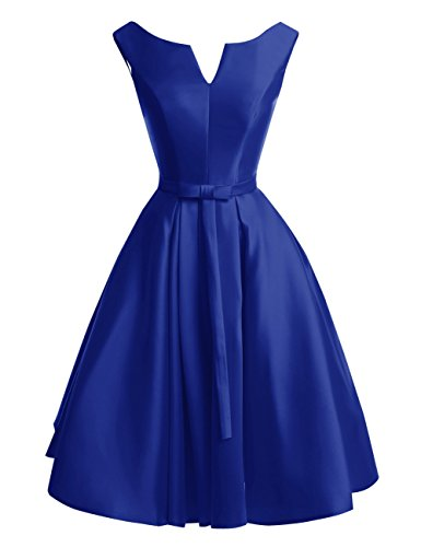 Bess Bridal Women's Lace Up A Line Knee Length Christmas Prom Homecoming Dress US12 Royal Blue