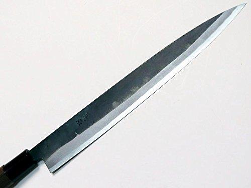 HONMAMON ''MOTOKANE'' Sashimi Hocho (Yanagiba Kitchen Knife) 240mm(abt 9.4 Inch), Blade Edge : ''Aogami Steel'' Kurouchi, Double Bevel