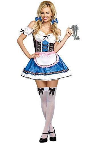 [Mememall Fashion Oktoberfest Bavarian Girl Happy New Beer Adult Costume] (Han Solo Costume Girl)