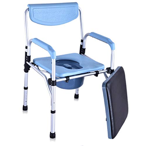 (Bedside Commodes Mobile Toilet Toilet Seat Bath Chair Patient Care Toilet Chair Toilet Lift Bathroom Stool Sofa Chair Dining Table Chair Folding Chair Pregnant Women Toilet Stool Disabled Elderly Mobi)