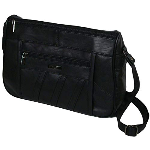 Womens Practical Soft Nappa Leather Across Body Ladies Shoulder Bag