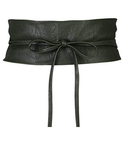 - 14987-KHA-OS: KRISP One Size PU Waist Belt, Khaki, One Size