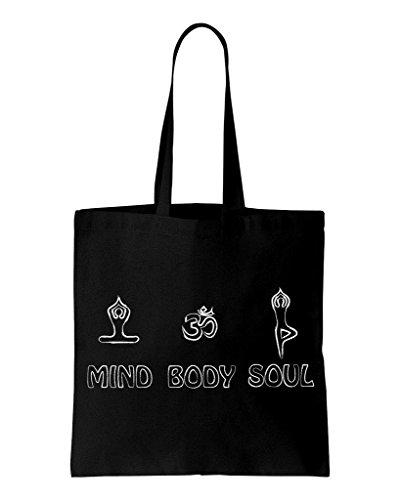 Bag Cotton Shopping Shoulder Body Soul Yoga Mind YwfqHaq