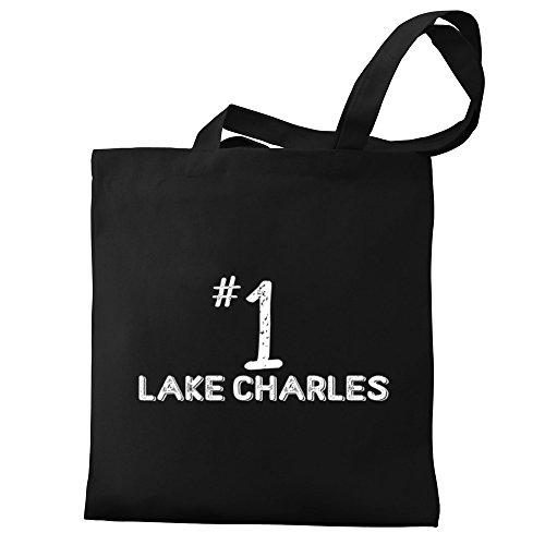 Eddany Number 1 Lake Charles Canvas Tote Bag (Charles Shopping Lake La)