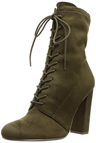 Bluebonnet Olive - Steve Madden Women's Elley Ankle Bootie, Olive, 8 M US