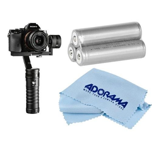 Ikan Beholder ms1 3軸電動式ジンバルスタビライザーfor Mirrorless Cameras – Bundle with Ikan Beholderバッテリセット、マイクロファイバークリーニングクロス   B01BUESHJ0