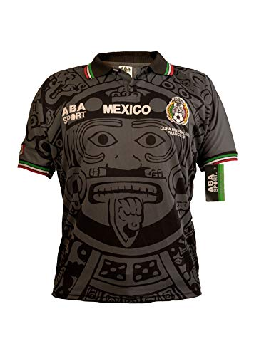 ABA Sport Mexico Black Authentic Gala Edition 1998 World Cup Soccer Jersey (Large) (Mexico World Cup)