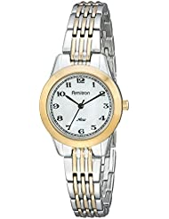 Armitron Womens 75/5072MPTT Easy-To-Read Dial Two-Tone Bracelet Watch