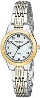 Armitron Women's 75/5072MPTT Easy-to-Read Dial Two-Tone Bracelet Watch
