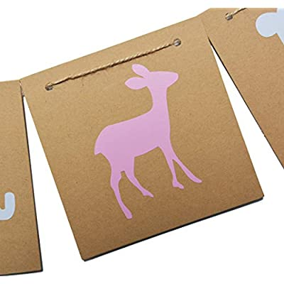 Qttier Buck or Doe Banner Garland for Baby Shower, Gender Reveal, Pregnancy Announcement Party: Toys & Games