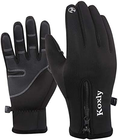 Koxly Winter Gloves Touch Screen Fingers Warm Gloves Insulated Anti-Slip Windproof Waterproof Cycling Riding Running Work for Men Women Mens Womens