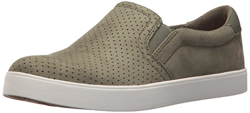Dr. Scholl's Shoes Women's Madison Sneaker, Willow Microfiber Perforated, 7 M -