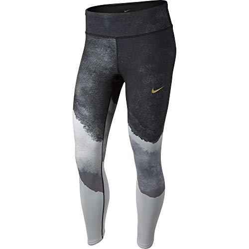 Nike Women's Epic Lux Watercolor Running Tights Wolf Grey/Cool Grey/Black/Reflect Gold M by Nike (Image #2)