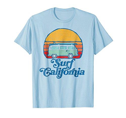 Retro California Hippie Van Groovy Beach Bum Surfer T-Shirt ()