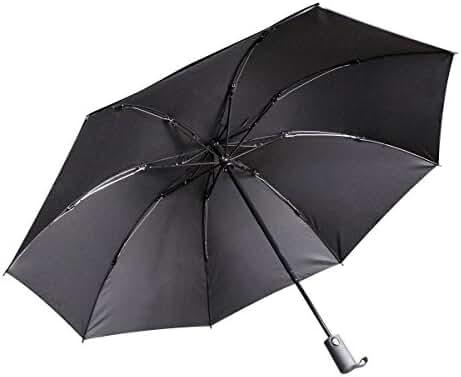 Doryum Automatic Travel Umbrella with Safe Auto Lock Design Windproof Folding Inverted Umbrella