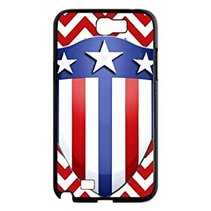 Cool Captain Shield Like Flag Hard Case Cover for Galaxy Note 2 N7100