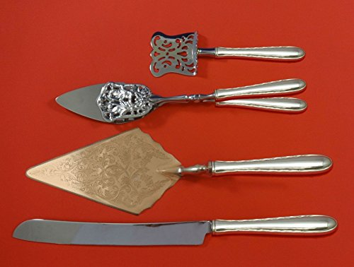 Silver Flutes by Towle Sterling Silver Dessert Serving Set 4pc Custom Made