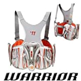 Warrior New Players Club 7.0 Rib Pads Large Silver/Orange Lacrosse LAX