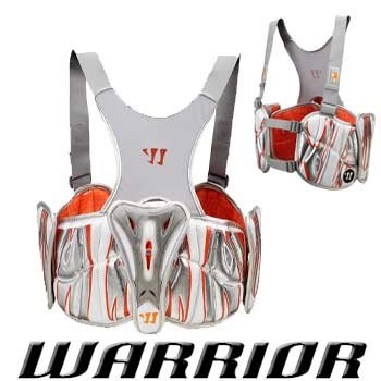 Warrior New Players Club 7.0 Rib Pads Large Silver/Orange Lacrosse LAX by Warrior